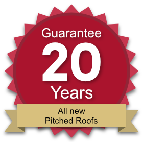 20 year guarantee on all new pitched roofs