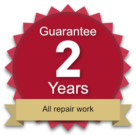 2 year guarantee on all repair work